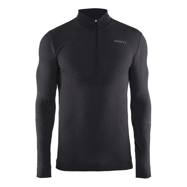 triko wool comfort zip black XL