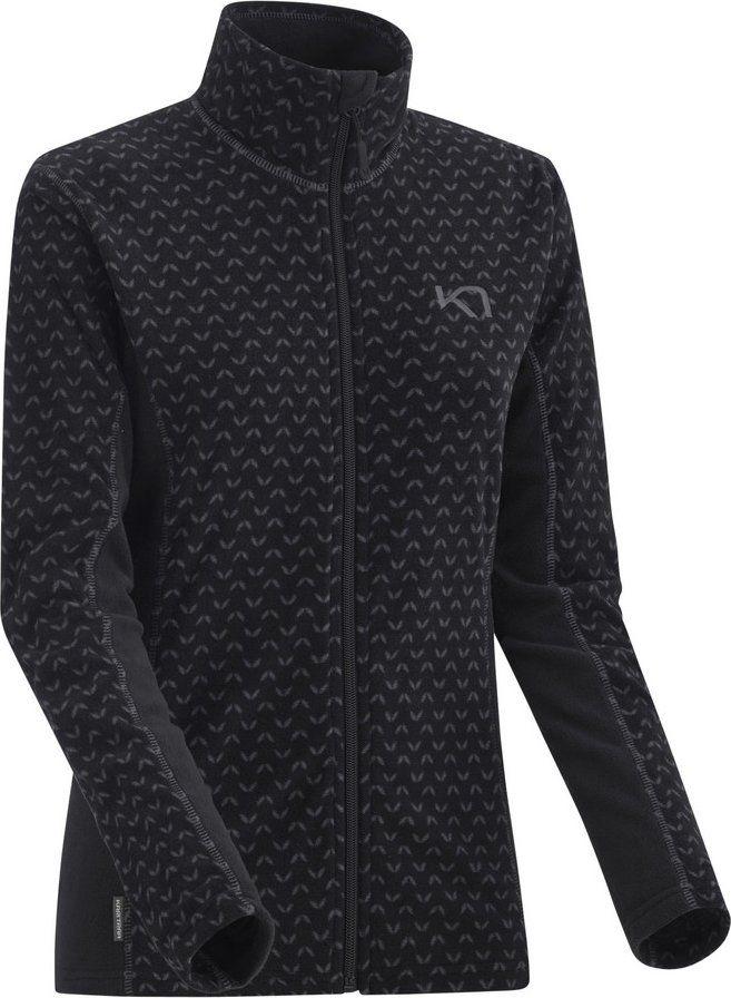 mikina lus fleece zip black XL