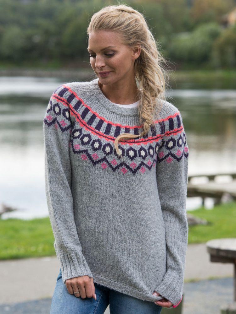 svetr Ringhem knit greym šedá XS