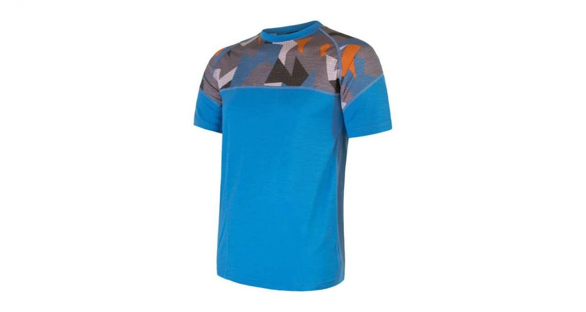 triko SENSOR Merino Impress kr.r. modrá M XL