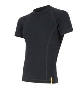 triko double face merino black XL